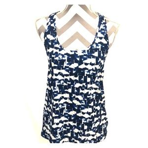 GapFit Blue and White Tank Top Size Small